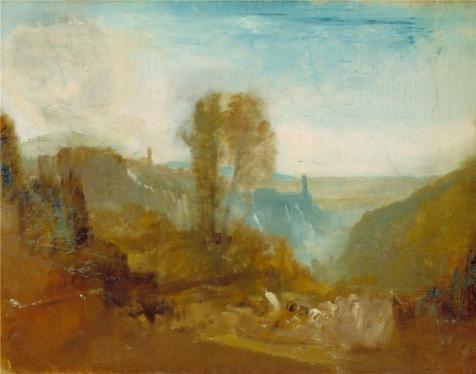 Oil Painting 'Joseph Mallord William Turner - Tivoli, The Ca