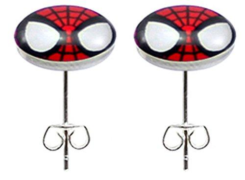 Boucles d'Oreille en Mode en Acier Inoxydable -Spider-man symbole