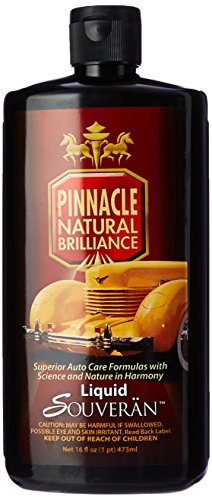Pinnacle Natural Brilliance PIN-315 Liquid Souveran Car Wax, 16 fl. oz.