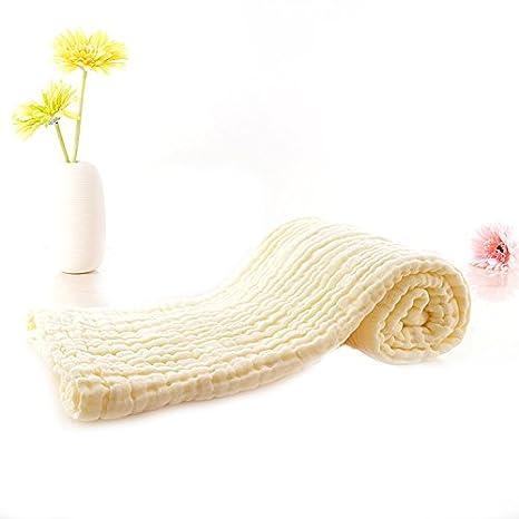 6 capas 110110 cm bebé muselina paños toallas de baño suave algodón Natural reutilizable recién nacido bebé toalla de cara y - Manopla de gasa para piel ...