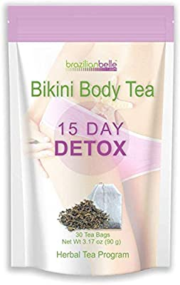 Bikini Body Detox Tea for Weight Loss - Best Slimming Tea on Amazon - Boosts Metabolism, Shrinks Love Handles and Improves Complexion
