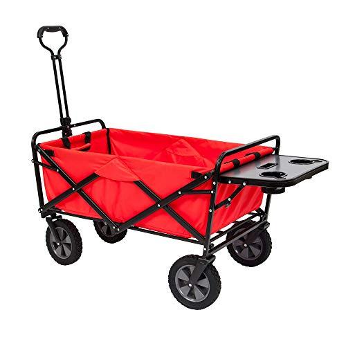 Mac Sports Folding Garden Utility Wagon w/Table, Red