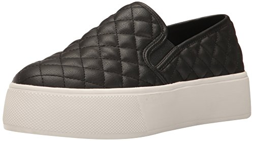Steve Madden Women's Ecentrcqp Fashion Sneaker, Black, 8 M US (On Platform Slip Sneakers Black)