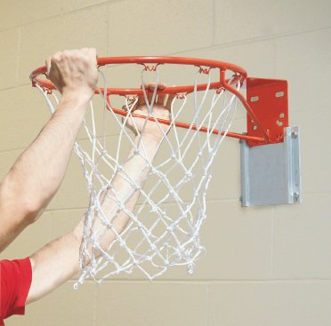 Bison, Inc. TR75 Removable Practice Basketball Goal Package, Silver