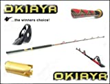 OKIAYA COMPOSIT 80-130LB SALTWATER BIG GAME ROLLER ROD, Outdoor Stuffs