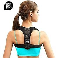 Corrector de postura - MY TECH Corrección de la postura de espalda para mujeres, hombres y adolescentes Alivio del dolor de hombros, cuello Ajustable y cómodo dispositivo de soporte para clavícula de la parte superior de la espalda APROBADO POR LA FDA
