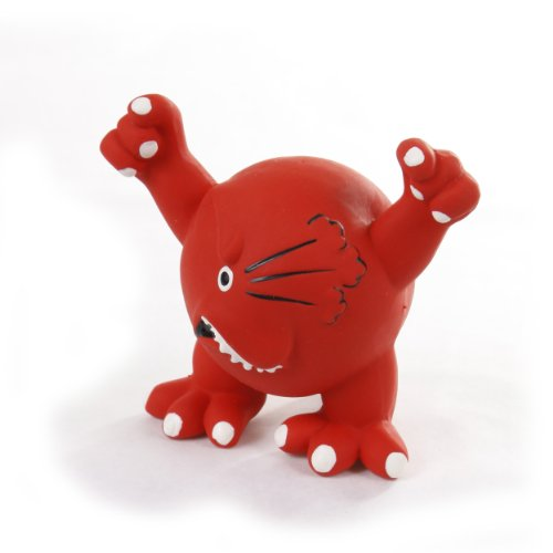 Knight Pet Latex Angry Face Toy, Red, My Pet Supplies