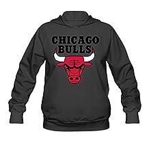 Rebecca Cool Chicago Bull Women's Long Sleeve Hoodie Black