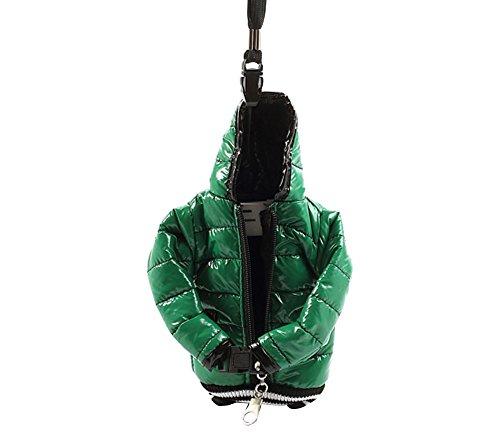 JUJEO Down Jacket, Baumwolle, inkl. Tasche, für Apple iPhone 5/5S/5C/4S/4 schwarz/grün
