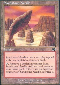 magic-the-gathering-sandstone-needle-mercadian-masques-foil