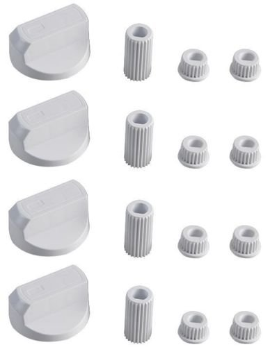 Cookers and Hobs KGASUPPLIES Leisure Universal White Control Knobs for Ovens Pack of 4