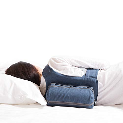 WoodyKnows Snoring Relief Side-Sleeping Back Pillow, Anti Snore Solution for Back Sleepers, Ergonomic Cervical Orthopedic Bed Backpack, Inflatable & Adjustable