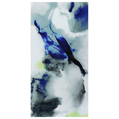 Empire Art Direct Abstract Art,Blue Frameless Tempered Glass Panel,Contemporary Wall Decor Ready to Hang,Living Room,Bedroom & Office, Splash
