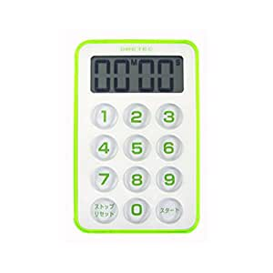 """[Notice """"strong light (LED4 Pieces)"""" in """"sound""""] flash timer Green T-184GN DRETEC (japan import)"""