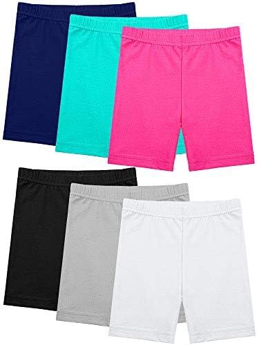 Ruisita 3 Pack Dance Shorts Bike Shorts Girls Bike Short Breathable and Safety