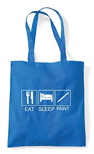 Funny Paint Hobby Sleep Tiles Shopper Tote Sapphire Activity Eat Bag T5txA