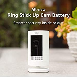 All-new Ring Stick Up Cam Battery | HD security camera with Two-Way Talk, white, Works with Alexa