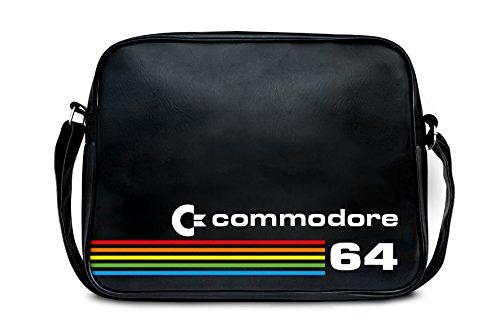 LOGOSHIRT original Shoulder quality Licensed Nerd Retro Bag Bag design Sports black Messenger Commodore High Bag C64 APZqA4