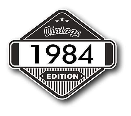 Sticar-It Ltd Cl/ásico Edition 1984 Retro Cl/ásico Vinilo Motos Cafe Racer Pegatina Insignia 85x70mm Aprox.
