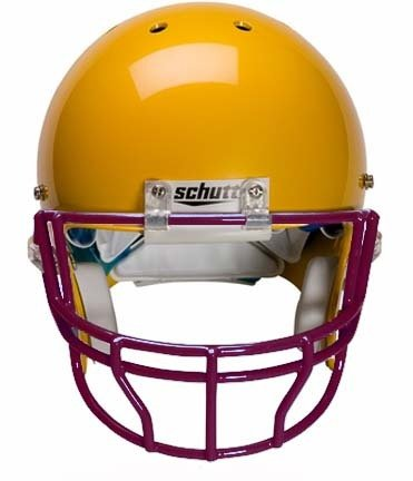 Schutt Maroon Reinforced Oral Protection (OPO-XL) Full Cage Football Helmet Face Guard from