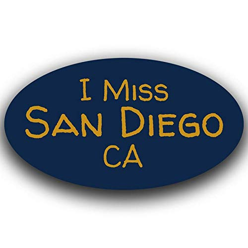 (More Shiz Blue I Miss San Diego California Decal Sticker Travel Car Truck Van Bumper Window Laptop Cup Wall - One 5.5 Inch Decal - MKS0520)