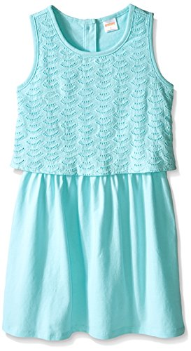 Gymboree Little Girls Eyelet Aqua Dress, Spring Blue, (Spring Eyelet)