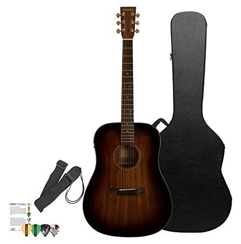 Sigma Guitars SD15ESHB-KIT 3 Acoustic-Electric Guitar, Shado