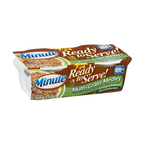 Minute Ready to Serve Multi-Grain Medley 4.4 Oz Rice, 2 Count