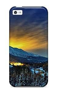 Ryan Knowlton Johnson's Shop 7156658K94199690 New Style Tpu 5c Protective Case Cover/ Iphone Case - Alaska Winter Nights