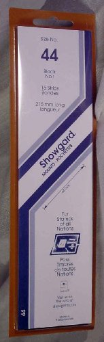 Showgard Strip Style Black Stamp Mounts Size 44