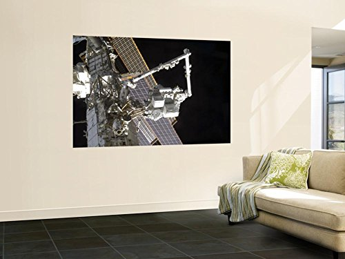 The Canadarm2 Mates The Express Logistics Carrier To The Outboard Payload Attachment System Wall Mural 48 X 72In