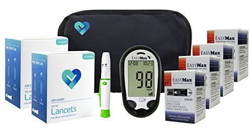 OWell Easy Max V Diabetes Blood Glucose Testing Kit, TALKING METER, 200 Test Strips, 200 Lancets, Lancing Device