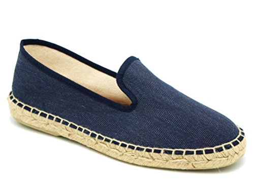 Canvas OKAA Cotton Espadrille in Slipper Style Navy pwwqZg1