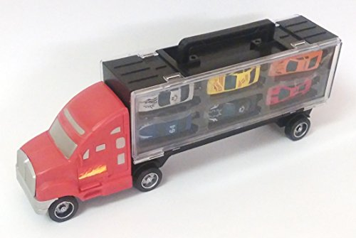 MK Trading Truck car carriar with 6 Extra Cars Toy for Kids