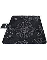 The Track of The Fate Series Symbol Picnic Mat 57''57X59 Inch(144Cm X 150Cm) Picnic Blanket Beach Mat with Waterproof for Kids Picnic Beaches and Outdoor Folded Bag