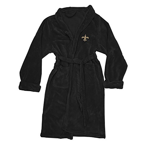 Officially Licensed NFL New Orleans Saints Men's Silk Touch Lounge Robe, Large/X-Large