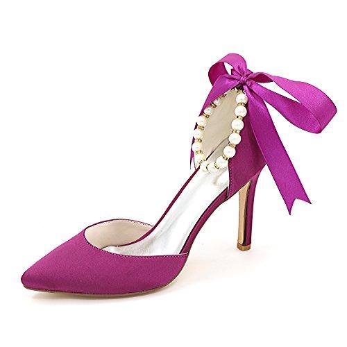 mit Schuhe Hohe in Flache der mit Schuhe Schuhen Gut Qingchunhuangtang Einem Mund Party der Schuhe Mitte Wort Hochzeit Mode mit Einem Einzigen Hingewiesen Frauen T6xq8wS8