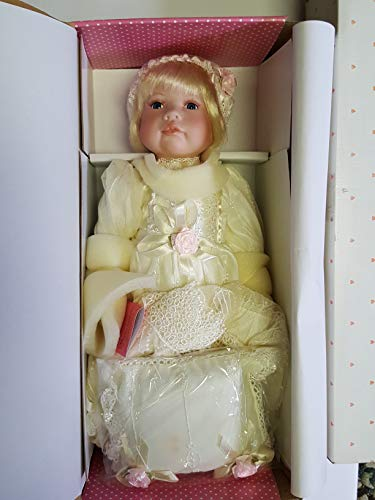 Paradise Gallery Baby Melissa Heavenly Christening Porcelain Doll 17