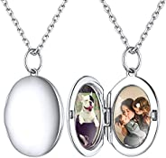ChicSilver Picture Locket Necklace 925 Sterling Silver Heart Locket Pendant Necklace That Holds Pictures for M