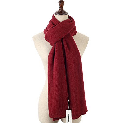 ZORJAR Solid Color Plush Fashion Knit Cashmere Feel Long Scarf Winter Shawl 86