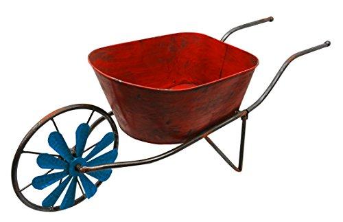 Red Wheel Wheelbarrow (Red Carpet Studios Wheelbarrow Planter, Red)