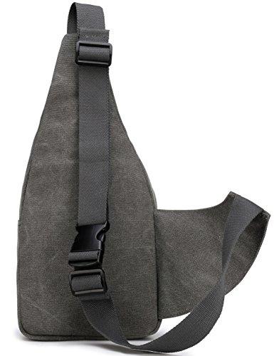 Aidonger Cartera de cuello, negro (negro) - BB97-BK gris