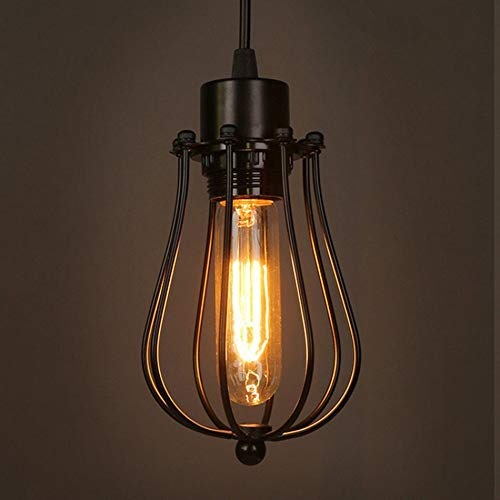 Xuancaizhenzhi Creative Retro Industrial Style Chandelier Forging Iron Personality Creative Attic Grapefruit Chandelier 5-10 Square Meters Suitable for Coffee Shop Tavern Use You Deserve to Have (Tavern Lamps 5)