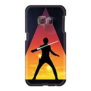 Icase88 Samsung Galaxy S6 Comfortable Phone Hard Cover Support Personal Customs Trendy Star Wars Jedi Image [mvl2015QmBZ]