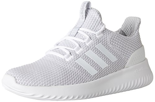 adidas Men's Cloudfoam Ultimate Running Shoe, White/White/Grey, 10 Medium US