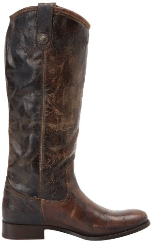 Vintage Melissa 77164 Glazed Leather Women's FRYE Boot Button Chocolate nYxZwH656U