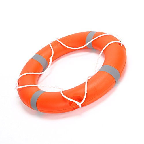 BeautySu. 28'' Diameter Professional Adult Foam Swim Ring Buoy Orange Lifering with White Bands by BeautySu. (Image #2)