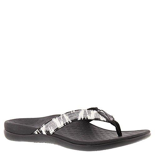 Vionic Tide Sequins Thong Flip Flop Sandal Shoe - Black/W...