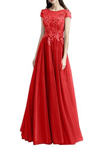 Fest Ivydressing Bodenlang Kurzarm Linie Abendkleider A Tuell Rot Damen Applikation Promkleid Spitze Mutterkleider Party Elegant x0vqFZrw0