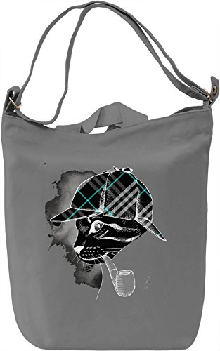Cat with The Pipe Borsa Giornaliera Canvas Canvas Day Bag| 100% Premium Cotton Canvas| DTG Printing|